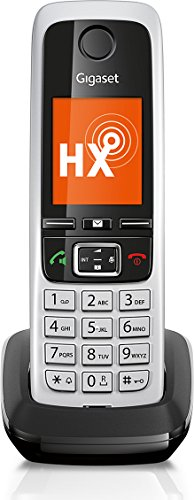Gigaset C430HX universele handset - draadloze IP-telefoon (voor aansluiting op router of basisstations - klassieke handset met kleurendisplay en HD-Voice) zwart-zilver
