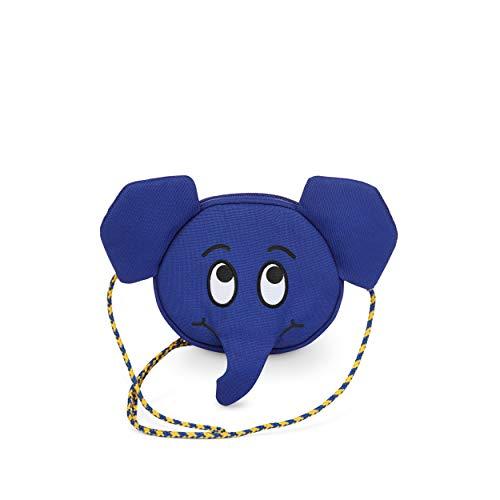 Affenzahn Monedero infantil – Riñonera para niños en el jardín de infancia. Wdr Elephant - Azul Talla única
