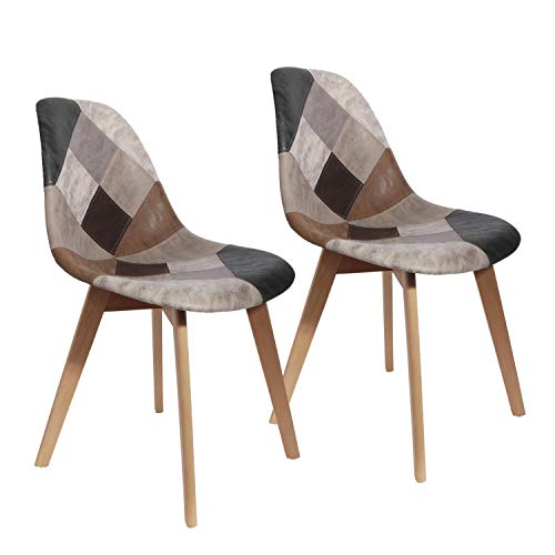 CMP Paris Chaise Design - Effet Cuir - Patchwork
