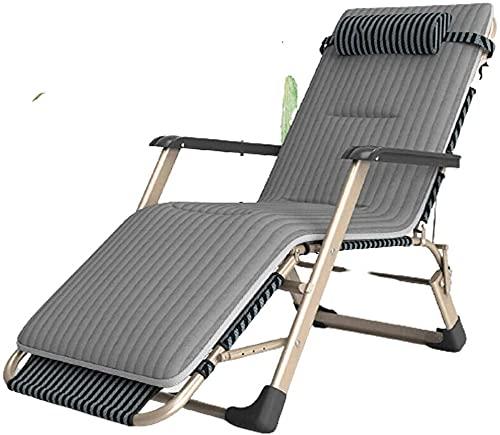BYMEMYR Tumbona, Silla de salón, Silla Plegable, Cero Gravedad, tumbonas, textolina Ajustable, sillas de jardín reclinable, Tumbona. (Color : Lounge Chair+Cord Velvet Cotton Pad)
