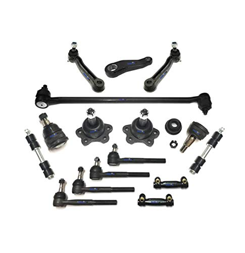 16 Pc New Front Suspension Kit Tie Rod Linkages Idler & Pitman Arms Upper & Lower Ball Joints Drag Link Sway Bar Links