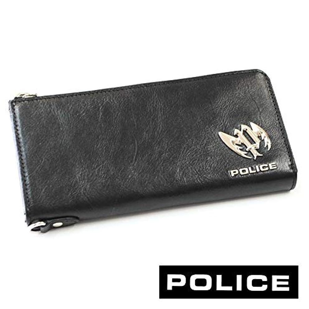 袋発火するじゃないPOLICE ポリス ブランド ラウンド 長財布 メンズplc122 ブラック
