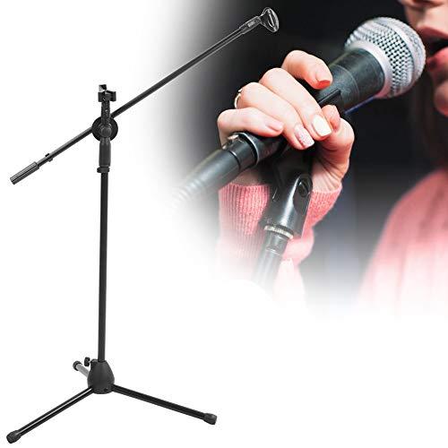 Statief Boom Microfoonstandaard, Multifunctionele Verstelbare Microfoonstandaard met 2 Microfoonclips voor Performance/Speeches, Microfoonstandaard met Telescopische Boomarm