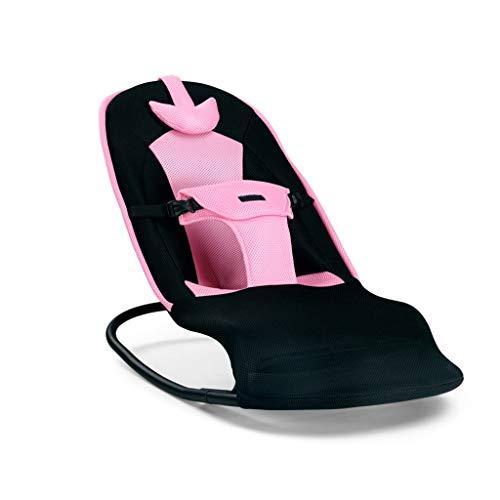 YANGXY Baby schommelstoel, comfortabele zachte verstelbare peuter schommelstoel, opvouwbare baby schommelstoel, 3 kleuren roze
