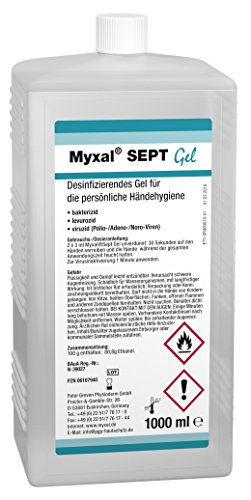 MYXAL SEPT GEL 1000 ml Hartflasche