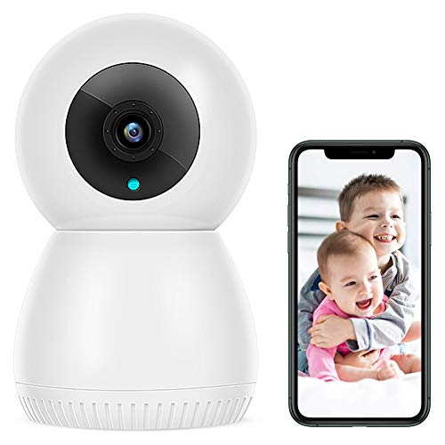 Cámara De Vigilancia Wifi Para Interiores 1080P, Con Función De Visión Nocturna, Alarma De Aplicación De Video, Audio De 2 Canales, Monitor Para Bebés/Ancianos/Mascotas, 256G, Blanco