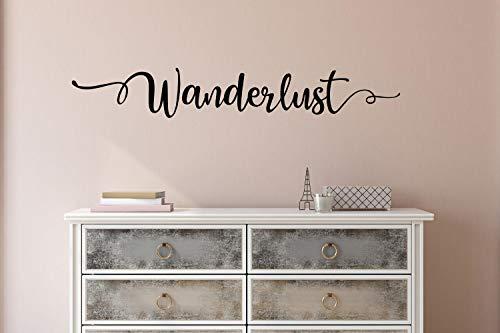 Tiukiu Wanderlust Wandtattoo Wanderlust Wandaufkleber Reise Wandaufkleber Wanderlust Zitat Wanderlust klein, Vinyl, Multi, 22 Inch In Width