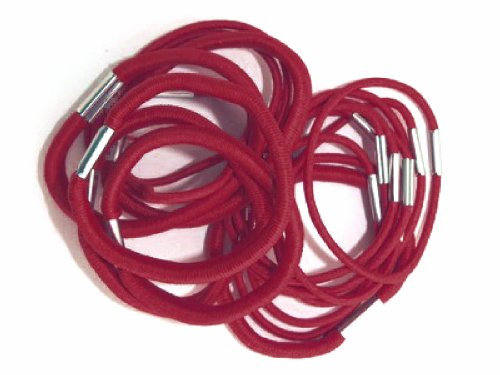 Shropshire Supplies Lot de 18 élastiques pour cheveux dans l'école Couleurs Queue de cheval Bandes épais et mince – Bordeaux