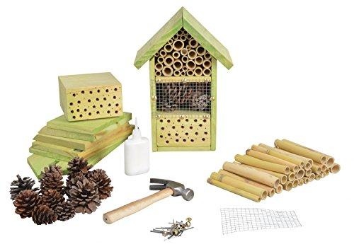 Esschert Design Bastler Insektenhotel für Kinder, zum selber Bauen, ca. 19 cm x 14 cm x 27 cm