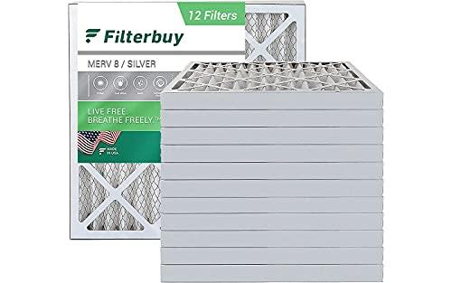 FilterBuy 20x20x2 Air Filter MERV 8, Pleated HVAC AC Furnace Filters...