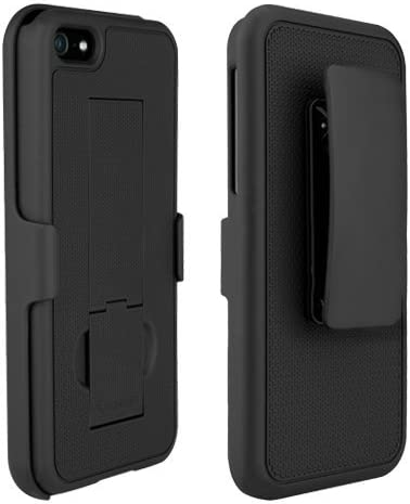 PureGear Case with kickstand + holster for iPhone 5/s/SE - Black