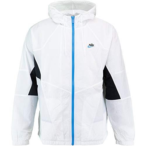 Nike Signature - Chaqueta cortavientos, Todo el año, Hombre, color negro/blanco, tamaño XL