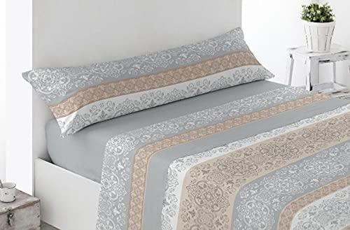 DESING Power-Textil-VIP-HOGAR: Juego SÁBANAS Invierno TÉRMICA, PIRINEO 3 Piezas Suaves cómodas Confortables. (ALHAMA-Gris, 105 X 190/200CM)