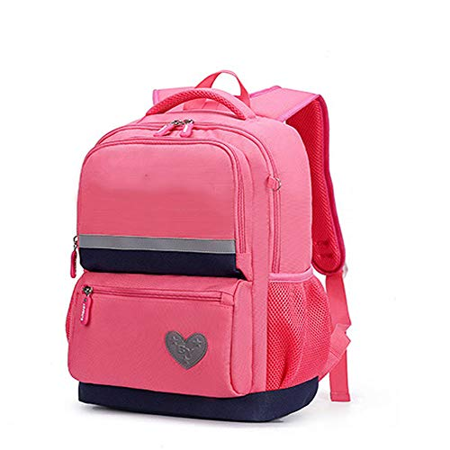 ZHAOYONGBING Children Backpack Girls And Kids Elementary Middle School Oxford Fabric Waterproof Casual Backpack. rose