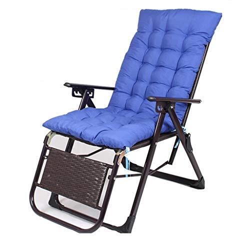 Pliable Portable Recliner en Plein Air Plage Chaise Bureau Nap Lit Retour Rotin Chaise Amis Rassemblement Peut Porter 200kg (avec Bleu Court Mat)