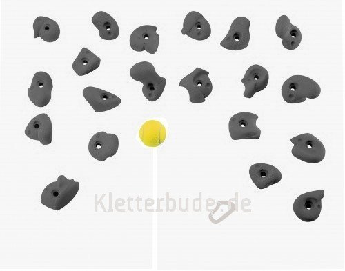 Entre Prises Kinderklettergriffe Kids, Farbe:grau