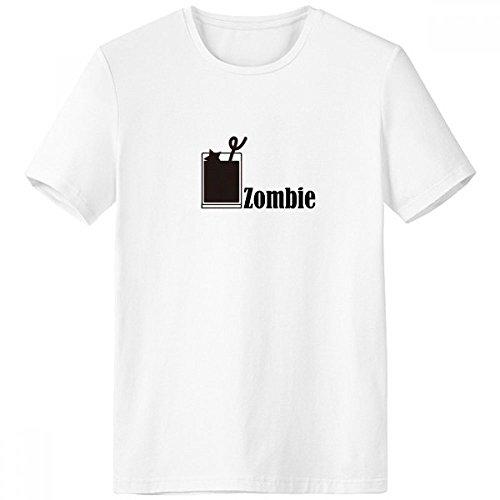 DIYthinker Zombie-Cocktail mit dem Wort Zombie mit Rundhalsausschnitt Weißen T-Shirt Kurzarm Comfort Sport-T-Shirts Geschenk - Multi - XXXL