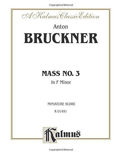 Mass No. 3 in F Minor: Miniature Score, Miniature Score (Kalmus Edition)