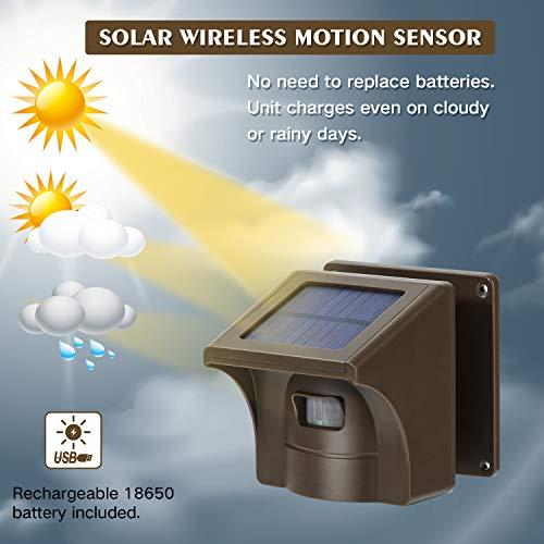 1/2 Mile Long Range Solar Wireless Driveway Alarm & Detector