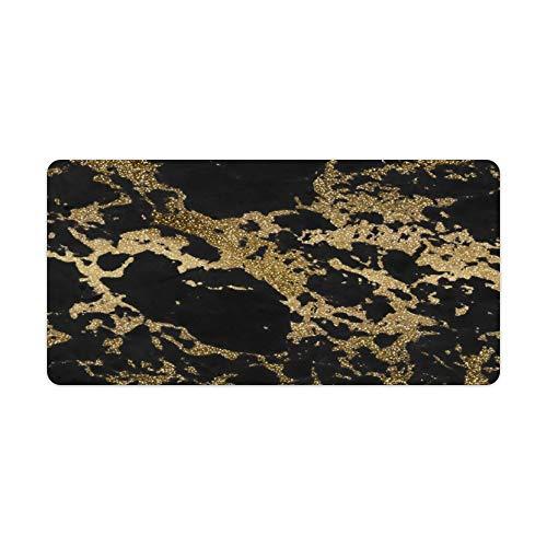 perfecone - Funda de almohada para sofá y coche, diseño moderno de imitación dorado con purpurina de mármol negro para sofá y coche, 1 paquete de 19,68 x 25,6 pulgadas (50 x 65 cm)