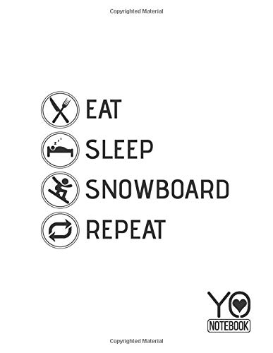 Eat Sleep Snowboard Repeat Notebook: Math and Science Composition Notebook for Students: Graph Paper Composition Notebook: Grid Paper, Quad Ruled, 200 ... 8.5 x 11 inch, Eat Sleep Snowboard Repeat)