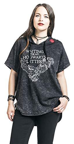 HARRY POTTER Hogwarts Letter - Waiting Mujer Camiseta Gris Oscuro L
