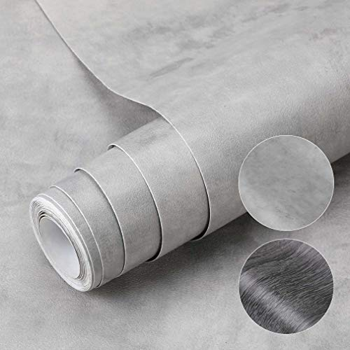 Papel Pintado Autoadhesivo de Efecto Concreto de PVC 0.61 X 5M Papel de Adhesivo Película Impermeable Membrana para Chimenea Azulejos Pisos Sala de Estar Dormitorio Cocina Pared DIY Pegatinas (Tipo D)