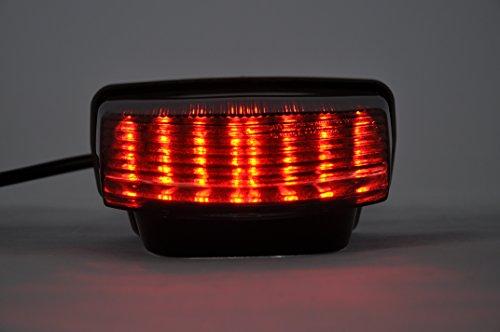 Topzone Moto Séquentiel Feu arrière fumé clignotant intégré tail light pour Honda 2007-2012 CBR600RR