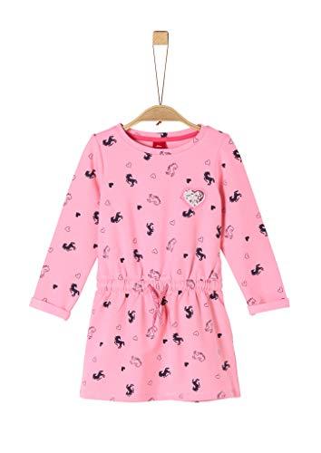 s.Oliver Mädchen 52.912.82.2958 Kleid, Rosa (Pink AOP 44a0), (Herstellergröße: 98/REG)