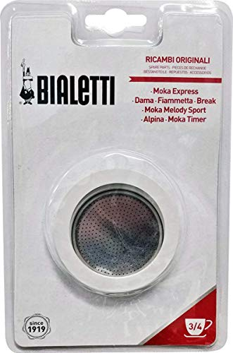 Bialetti Replacement Gasket and Filter For 3 Cup...