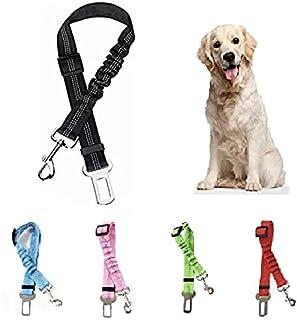 Cinturón de Seguridad para Perro - Cinturón elástico para Mascotas - Arnés Fabricado en Nylon con Parte elástica - 100% Se...