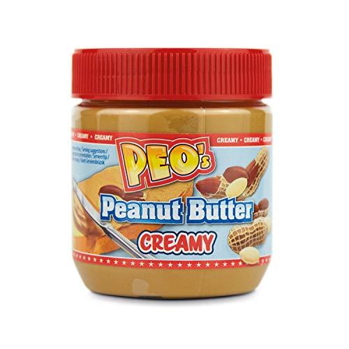 Peo's Peanut Butter Creamy 6er Pack, 6 x 340 g, Erdnussbutter, Cremig, Brotaufstrich, Für die ganze Familie, unschlagbares Geschmackserlebnis, Erdnusscreme