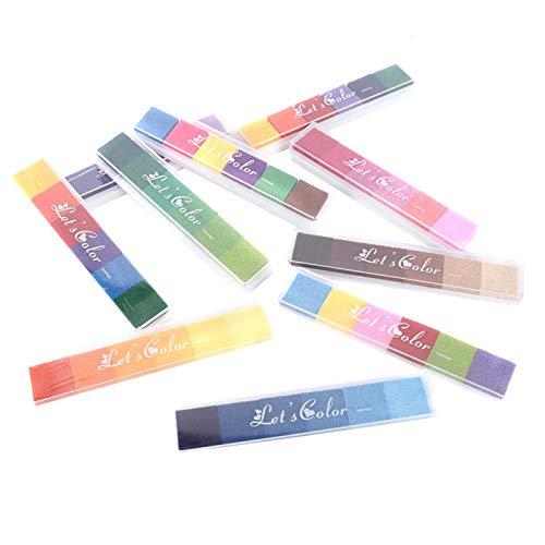 Cocosity Almohadilla de Tinta, Almohadilla de Tinta de Pigmento, Almohadilla de Sello de Goma Segura 10 Piezas para decoración de Mesa de Regalo álbum de Recortes para niños