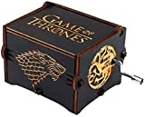Funmo - Premier - Caja de música, con el Grabado Game of Thrones en Madera, Caja Decorativa