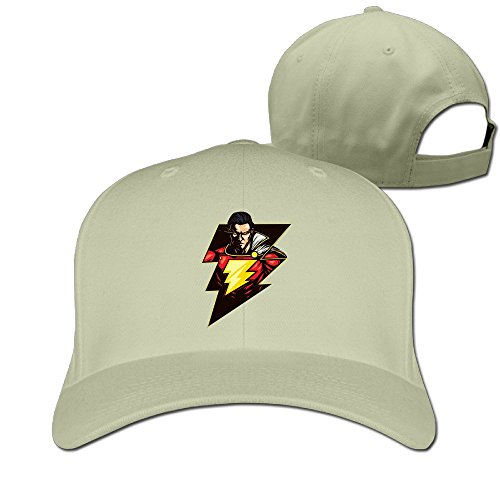 Arney Marico Fictional Shazam de superhéroe Flash Logo Ajustable Gorra de béisbol Gorro Tapa