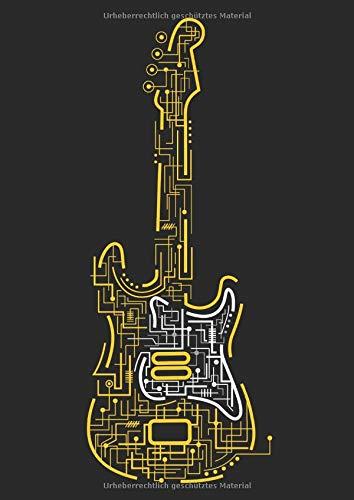 Gitarrentabulatur: 120 Blanko Gitarren Tabs Vorlagen | A4 | elegantes Softcover | mit E-Gitarren Motiv | mit Akkorddiagrammen und 6-Linien Tabulatur | übersichtlich und einfach