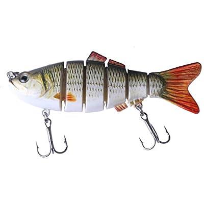 "HENGJIA 4"" Multi Jointed Bass Pike Fishing Lure Swimbait Lifelike Shad Minnow by HENGJIA"