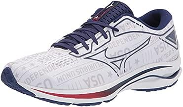 Mizuno Men's Wave Rider 25 Running Shoe, White, 11.5