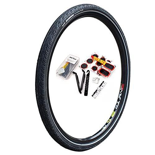 SAJDH Neumático De Bicicleta De Montaña 26 * 1,75 Neumático A Prueba De Pinchazos Y Kit De Reparación De Neumático De Bicicleta 1 Pieza,Puncture Resistance Level 3