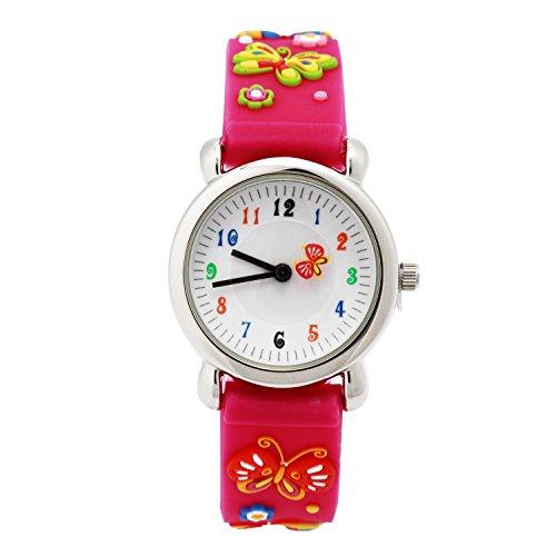 3D Lovely Cartoon Children Watch Silicone Strap Waterproof Digital Round Quartz Wristwatches Time Te -  -Armbanduhr- AB-122
