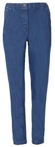 FASHION YOU WANT Seniorenhose Schlupfhose mit Gummizug Kurzgröße ideal für Pflegebedürftige Omas einfach anzuziehen und super pflegeleicht (42/44, Jeans)