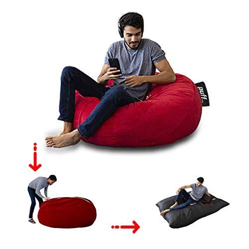Sillón con cama matrimonial color rojo para adolecentes y adultos con relleno de hule espuma muy cómodo para pasar grandes momentos de descanso, acabado en gamuza, resistente y fácil limpieza, sillón perfecto para tu hogar u oficina.