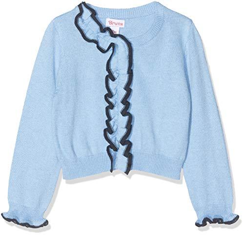 Brums Baby-Mädchen Coreana Tricot Jacquard Strickjacke, Blau (Avio Scuro 02 171), 86 (Herstellergröße: 18M)