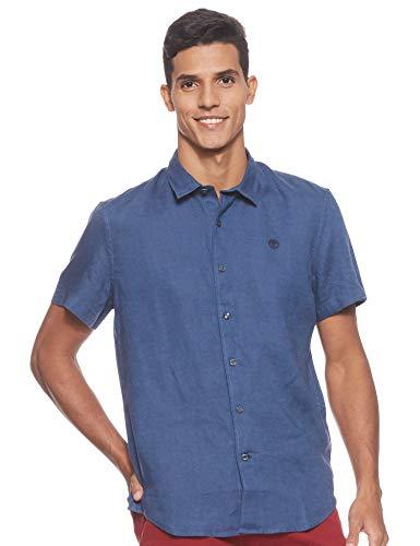 Timberland - Camisa de hombre M/M de lino River Miller