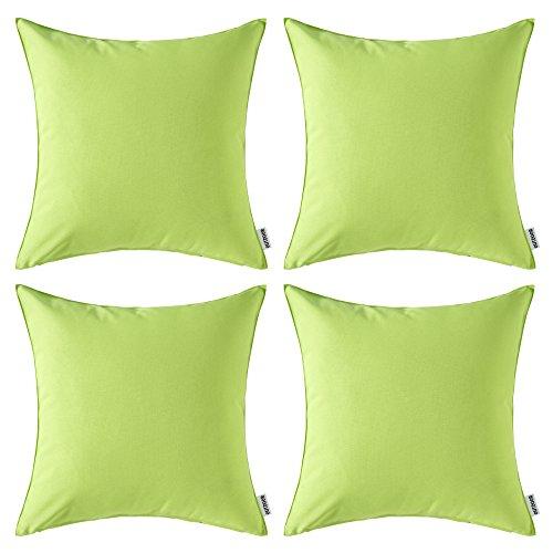 MIULEE Confezione da 4 Fodere Impermeabile Decorative All'Aperto Federe Copricuscini Arredi per Divano Camera da Letto18 X18 Pollici 45 X 45 cm Verde
