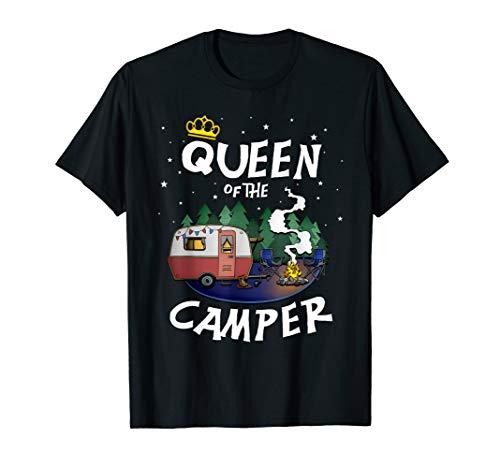 Die Camping Königin T-Shirt für Wohnwagen und Campingplatz T-Shirt