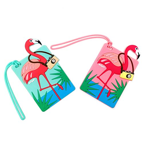 Travel Luggage Tags Travel Accessory Flamingo Pattern PVC Suitcases Tags