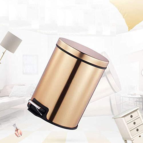 DGHJ vuilnisemmer voor honden, vuilnisbakken/roestvrij staal/vatvorm/met deksel/afneembaar/binnen/badkamer/keuken/slaapkamer/kantoor