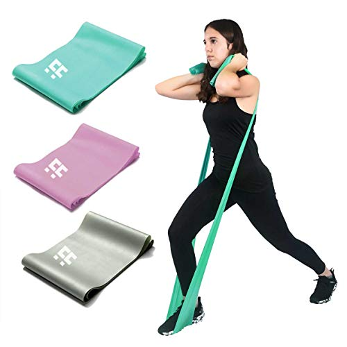 CACTUS FITNESS 6.5ft. Long Latex Resistance Bands for exercise, elastic fitness bands for home and gym workout, stretching, Strength Training , Physical Therapy, Yoga, Pilates, Rehab (15LB/Pink/S Size)