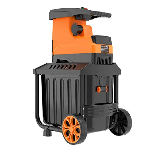 TACKLIFE Garden Shredder, Wood Chipper, Max. Cutting Capacity: Dia. 45mm, 2500W, 60L Collection Box,...
